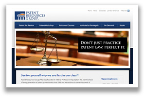 Patent Resource Group -Virginia Law Firm Web Design, Alexandria VA
